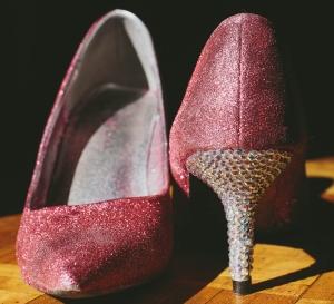 Glitter and Rhinestone Shoes