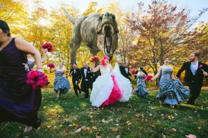 T-Rex Wedding Party Attack